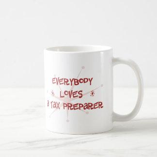 Todos ama a un preparador de impuesto taza de café