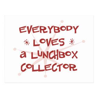 Todos ama un colector de la caja del almuerzo postales