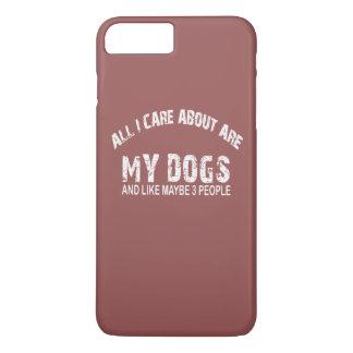 ¡Todos cuidado de I SON alrededor mis PERROS!! Funda iPhone 7 Plus