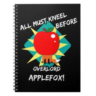 Todos deben arrodillarse antes de applefox del ove cuaderno