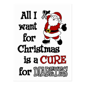 Todos lo que quiero para la diabetes del navidad… postal