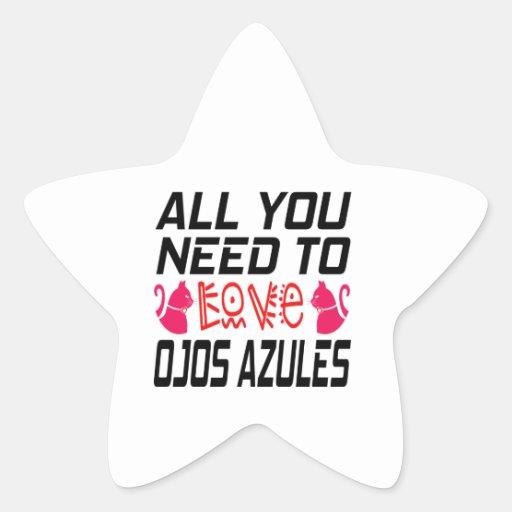 Todos lo que usted necesita amar el gato de Ojos Colcomanias Forma De Estrellas