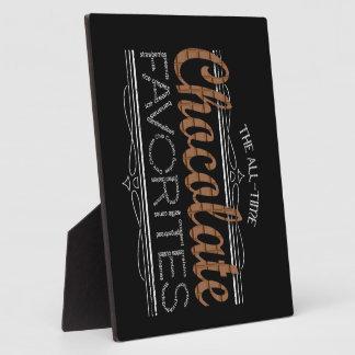 Todos los favoritos del chocolate placa expositora