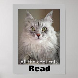 Todos los gatos frescos leídos (poster de la póster