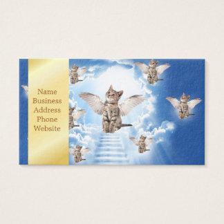 Todos los gatos van al cielo tarjeta de negocios