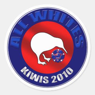 Todos los regalos de las ilustraciones del kiwi pegatina redonda