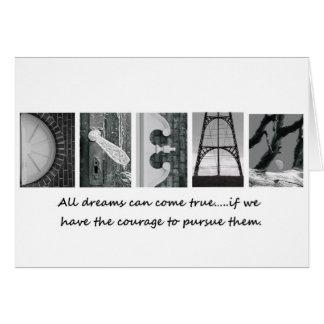 Todos los sueños vienen tarjeta de felicitación ve