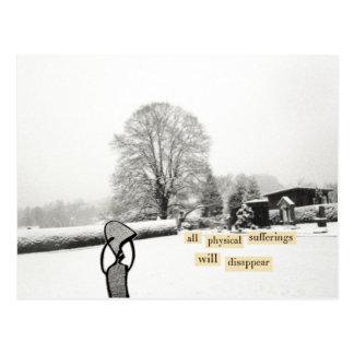 todos los sufrimientos físicos desaparecerán postal