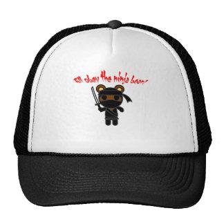 Todos obedecen el oso de Ninja Gorros Bordados