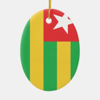 Togo Adorno Ovalado De Cerámica