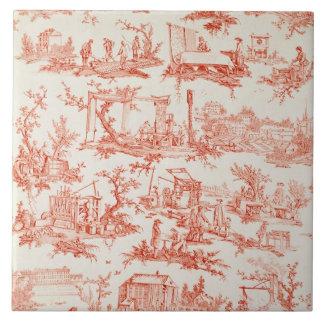 Toile de Jouy, ilustrando los procesos del manuf Teja Ceramica