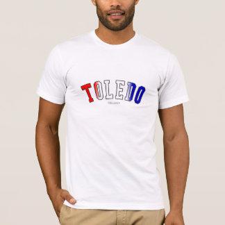 Toledo en colores de la bandera del estado de Ohio Camiseta