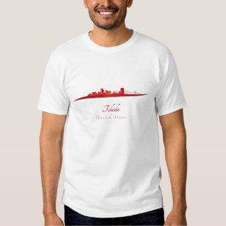 Toledo OH skyline in red Camiseta