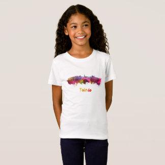 Toledo skyline in watercolor camiseta