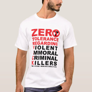 TOLERANCIA CERO CAMISETA