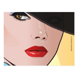 Tolerancia de la mujer del arte pop tarjeta postal