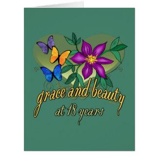 Tolerancia y belleza en 18 años tarjeta de felicitación grande