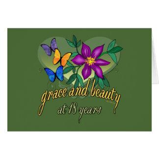 Tolerancia y belleza en 18 años tarjeta de felicitación