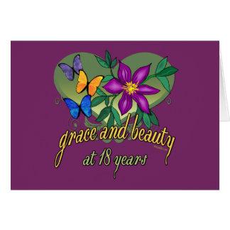 Tolerancia y belleza en 18 años tarjeta pequeña