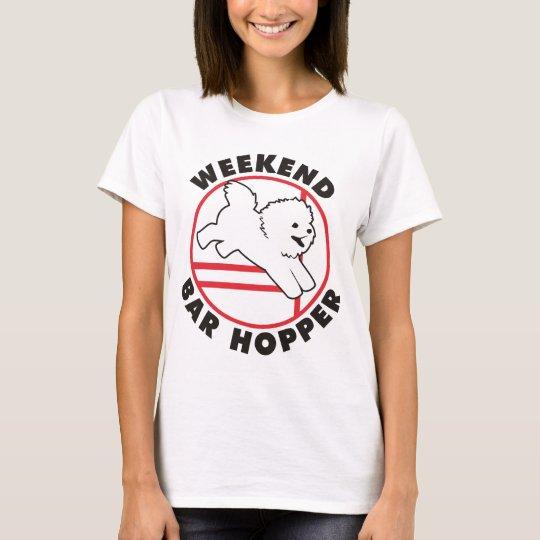 Tolva de la barra del fin de semana de la agilidad camiseta