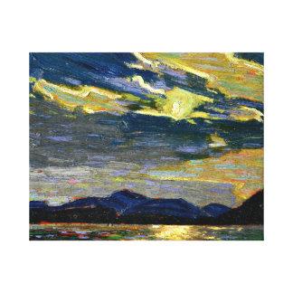 Tom Thomson - claro de luna caliente del verano Lienzo