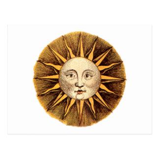 Toma el sol cara sun face postal