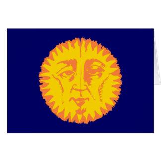 Toma el sol cara sun face tarjeton