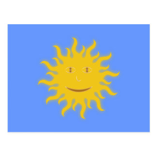 Toma el sol cara sun face tarjetas postales