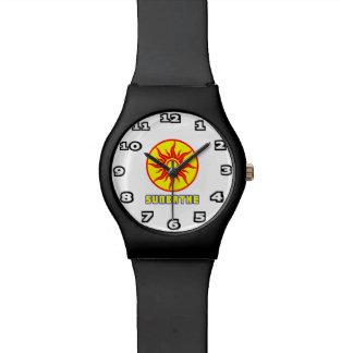 Toma el sol el reloj del May28th de los hombres