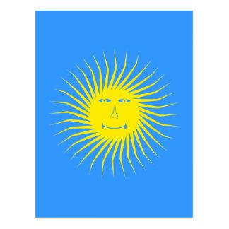 toma el sol gesicht sun face postal