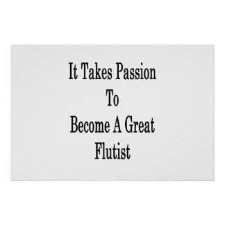 Toma la pasión para sentir bien a un gran póster