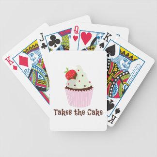 Toma la torta barajas de cartas