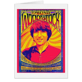 Tomar la tarjeta de felicitación de Woodstock