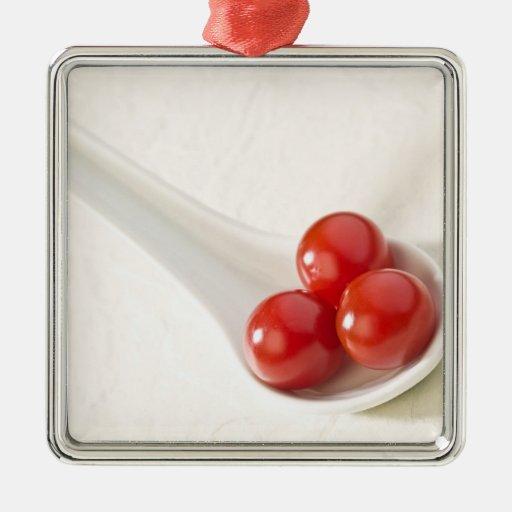 Tomates de cereza 3 adorno para reyes