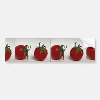 Tomates de cereza deliciosos pegatina para coche