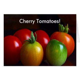 Tomates de cereza tarjeta