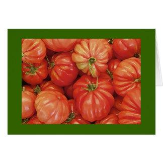 Tomates de la herencia en Manhattan Tarjeta De Felicitación