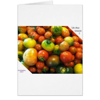 Tomates de la herencia tarjeta