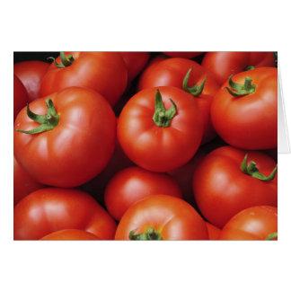 Tomates maduros - rojo brillante, fresco tarjeta