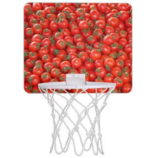 Tomates rojos de la vid mini tablero de baloncesto