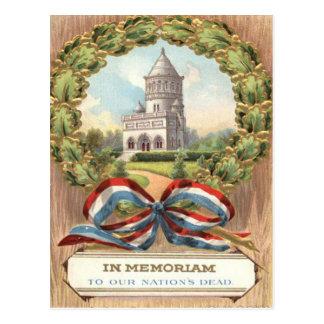 Tomb Wreath de presidente Garfield Postal