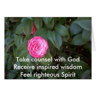Tome el consejo con dios tarjeta