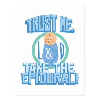Tome el epidural postal