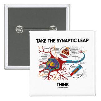 Tome el salto sináptico piensan (neurona/la chapa cuadrada