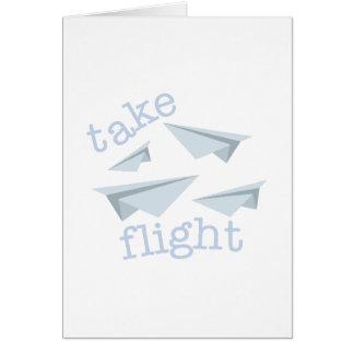 Tome el vuelo tarjeta de felicitación