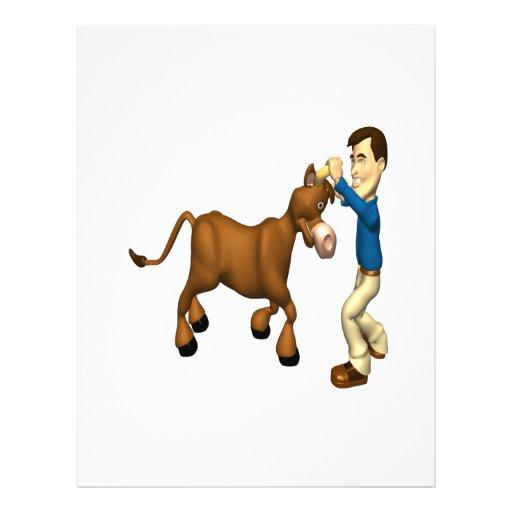 Tome la Bull por los cuernos Flyer Personalizado