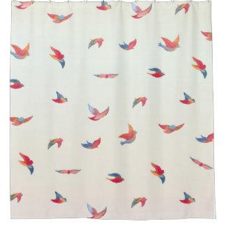 Tome la cortina de ducha del vuelo