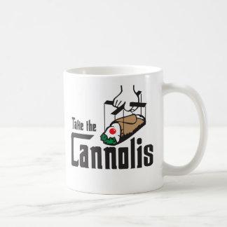 Tome la taza de Cannolis