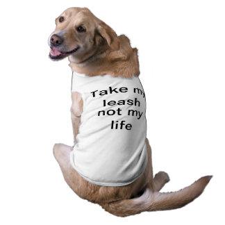 Tome mi correo, no mis camisetas sin mangas del pe camiseta de perrito