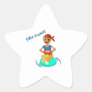 Tome un giro pegatinas forma de estrella